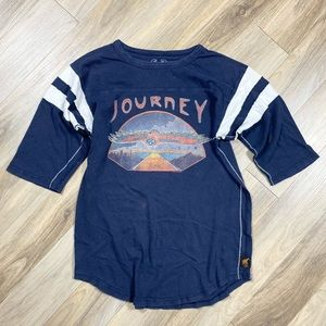 Free People Trunk Graphic Tee Journey Distressed